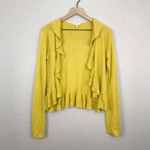 Fossil | Marigold Yellow Ruffled Cardigan (sz S)